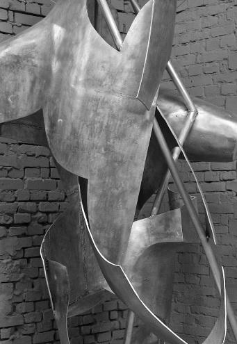 Moby Dick Song Czwórnia, 2014, aluminium, warszawskie studio artysty, fot. autor