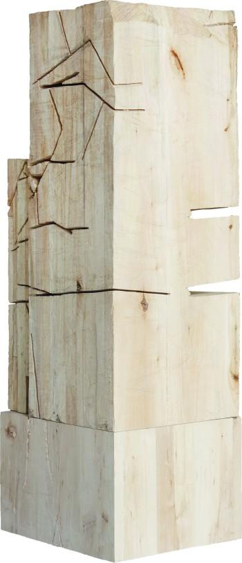 Michał Orzechowski, bez tytułu, 2016, drewno lipowe, fot. Magda Kowalska