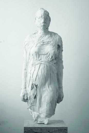"""Michał Orzechowski, ,,Paulina"""", 2011, gips, wys. 120 cm, fot. Magda Kowalska"""